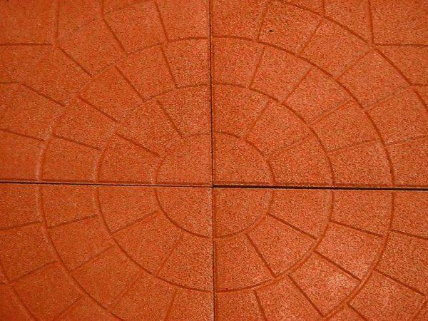 Резиновая плитка «Паутинка» 350х350х30